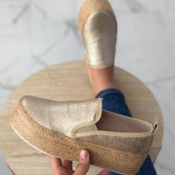 נעלי קש פלטפורמה