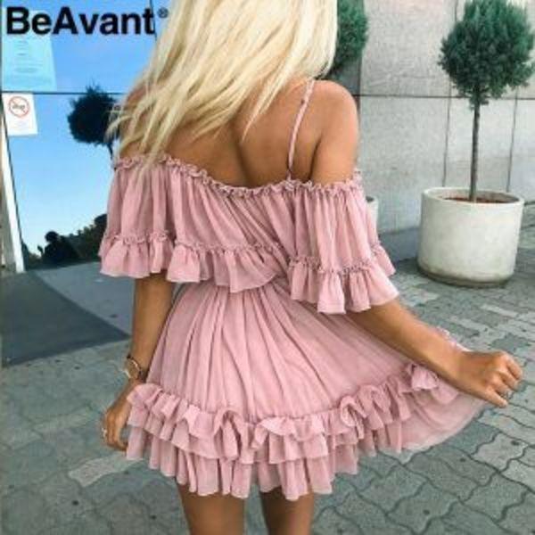 שמלת מלמלה שיפון קייצית לנשים