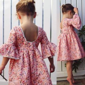 בגדים פרחוניים לילדות