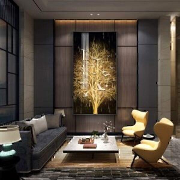 תמונות לעיצוב הבית בצבעי שחור זהב
