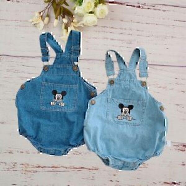 אוברול ג'ינס מיקי לתינוקות