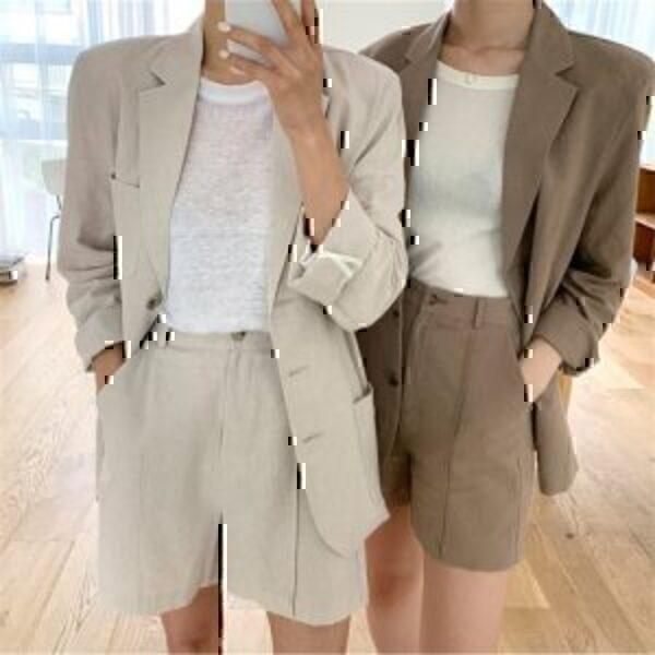 חליפת נשים גווני שמנת חום