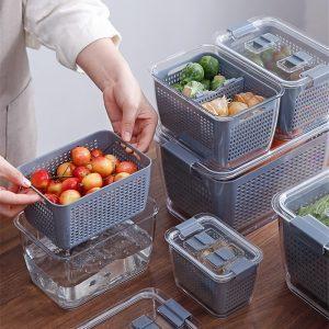 מיכלי אחסון מחולקים למקרר